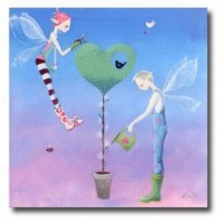Un amour vole très haut sur les ailes de l' amitié .